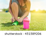 pink detox smoothie cup and... | Shutterstock . vector #451589206
