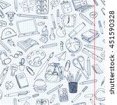 coloring school  pattern.... | Shutterstock .eps vector #451590328