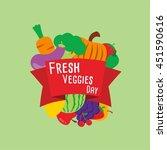fresh veggies day vector.... | Shutterstock .eps vector #451590616