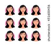 brunette woman vector... | Shutterstock .eps vector #451600456