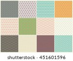 different vector seamless... | Shutterstock .eps vector #451601596