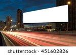 blank billboard on the highway... | Shutterstock . vector #451602826