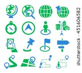 location  place icon set | Shutterstock .eps vector #451606582