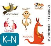 Animal Zoo Alphabet. Letter K ...