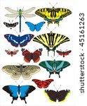 vector collection of different  ...   Shutterstock .eps vector #45161263