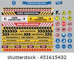 set of construction sign ... | Shutterstock .eps vector #451615432
