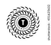 monogram vector in frame | Shutterstock .eps vector #451625632