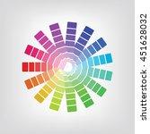 colorful radial gradient badge... | Shutterstock .eps vector #451628032