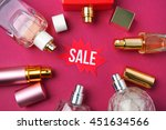 collection of women perfume on... | Shutterstock . vector #451634566