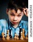 Nerd Play Chess On A Black ...