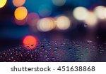 night city street lights bokeh... | Shutterstock . vector #451638868