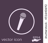 microphone sign. musical symbol ... | Shutterstock .eps vector #451640692