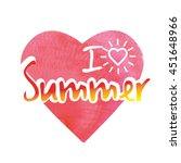 summer lettering on orange... | Shutterstock .eps vector #451648966