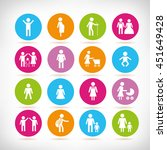 family people icons | Shutterstock .eps vector #451649428