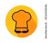 cook hat vector. icon for web... | Shutterstock .eps vector #451654036