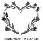 elegant heart shaped frame with ... | Shutterstock .eps vector #451654936