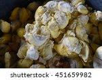 Pile Flesh Durian Rotten