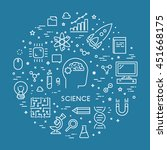 line web concept for science.... | Shutterstock .eps vector #451668175