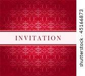 invitation vector red card | Shutterstock .eps vector #45166873