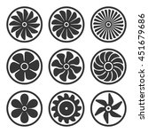 turbines and fan icons set.... | Shutterstock .eps vector #451679686