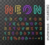 bright colorful realistic neon... | Shutterstock .eps vector #451680382