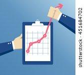 business concept growth  effort ... | Shutterstock .eps vector #451684702