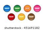 empty badge blue badge green... | Shutterstock . vector #451691182