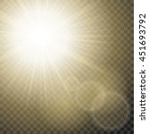 sparkling sun rays with hot... | Shutterstock .eps vector #451693792
