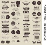 vector retro insignias  banners ... | Shutterstock .eps vector #451710592