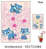three cute little kittens... | Shutterstock .eps vector #451711486