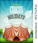 summer circus holidays poster ... | Shutterstock .eps vector #451711912