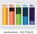volume loading bar. battery... | Shutterstock .eps vector #451713625