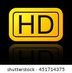 yellow hd label. widescreen tv...