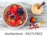 acai breakfast superfoods... | Shutterstock . vector #451717822
