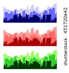 cityscape silhouettes vector | Shutterstock .eps vector #451720642