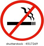 no smoking sign | Shutterstock . vector #4517269