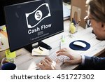 cash flow business money... | Shutterstock . vector #451727302