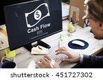 cash flow business money... | Shutterstock . vector #451727302
