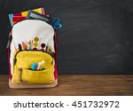 backpack full of school... | Shutterstock . vector #451732972