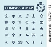 compass map icons | Shutterstock .eps vector #451734496