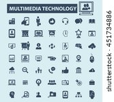 multimedia technology icons | Shutterstock .eps vector #451734886