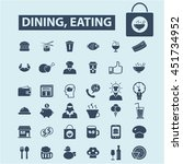 dining eating icons | Shutterstock .eps vector #451734952
