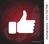 thumb up icon  vector... | Shutterstock .eps vector #451735708