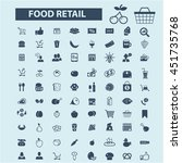 food retail icons | Shutterstock .eps vector #451735768