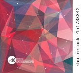polygonal abstract background...   Shutterstock .eps vector #451738342