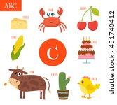 Letter C. Cartoon Alphabet For...