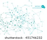 abstract network connection... | Shutterstock .eps vector #451746232