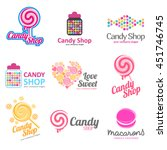 vector set of logos for sweets  ... | Shutterstock .eps vector #451746745