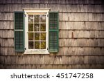 French Pane Window With Green...