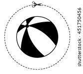 beach ball vector icon | Shutterstock .eps vector #451750456